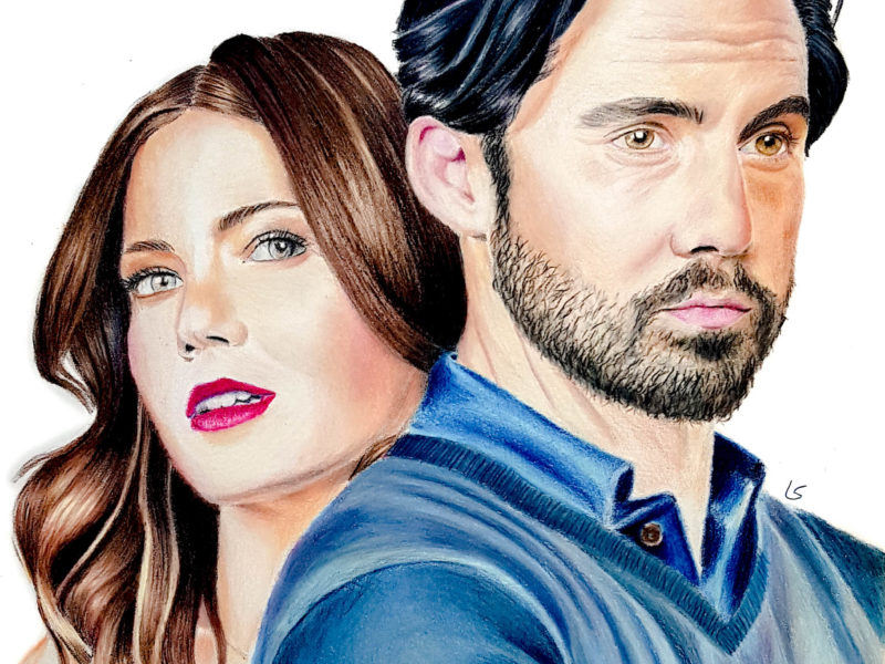 "Portrait de Mandy Moore et Milo Ventimiglia de la série ""This is us"""