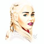 Portrait digital de Daenerys de Game of thrones par Laurie Sénacq