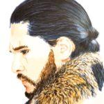 Portrait de Jon Snow aux marqueurs par Laurie Sénacq