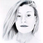 Leslie aux crayons de couleur par Laurie Sénacq